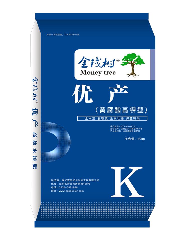 金钱树·优产·黄腐酸高钾型水溶肥